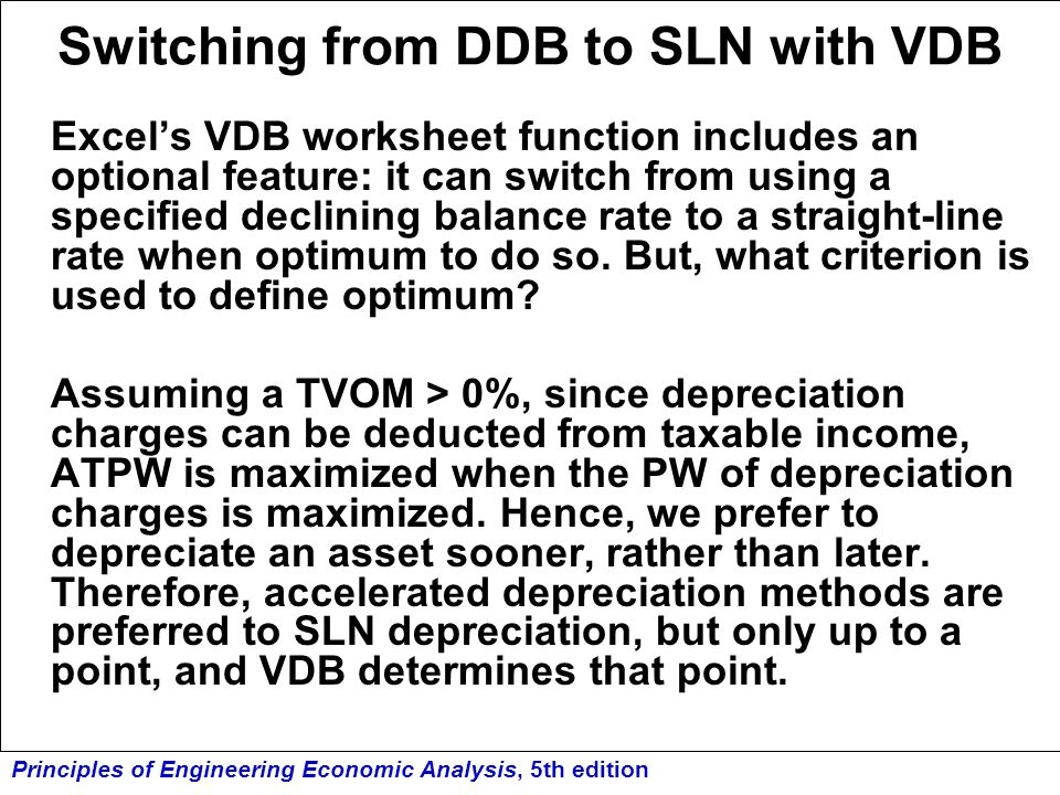 Switching from DDB to SLN with VDB