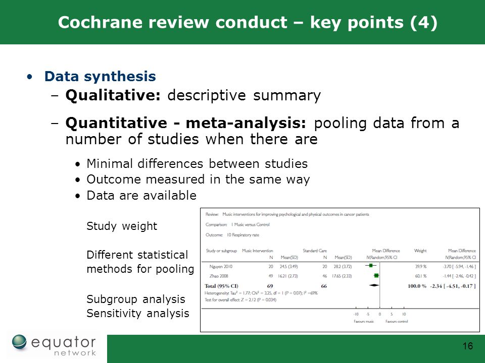 Cochrane review conduct – key points (4)