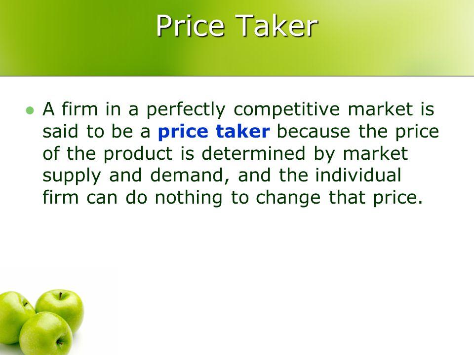 Price Taker