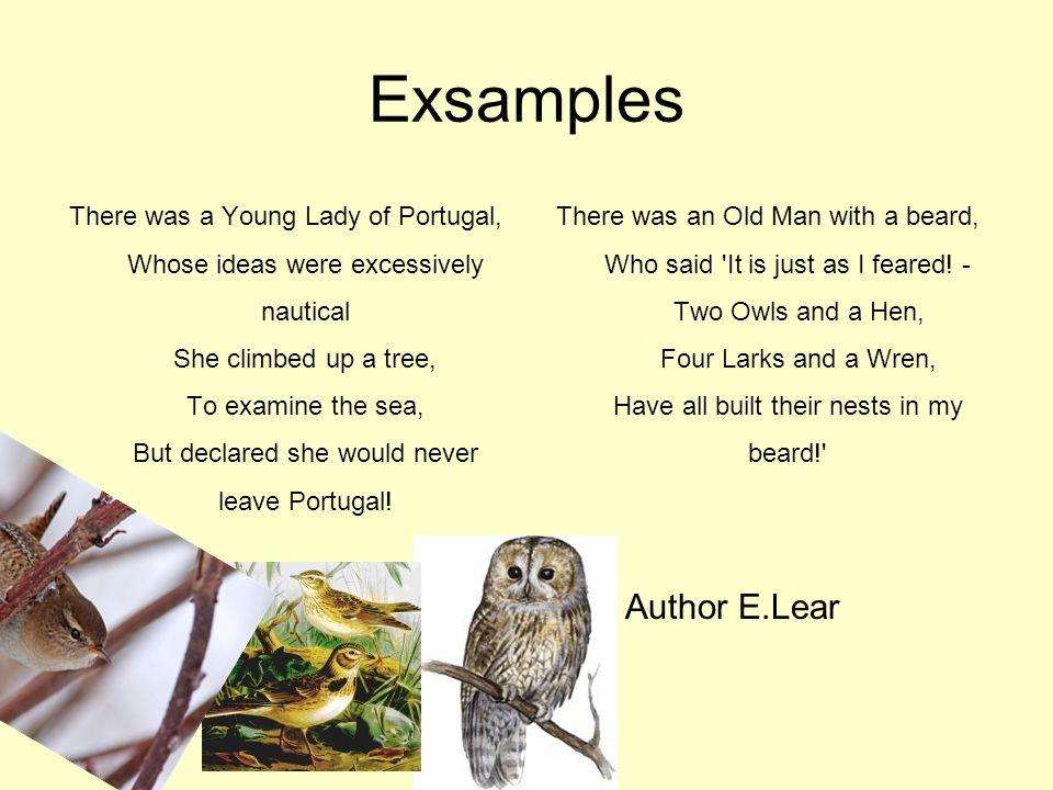 Exsamples Author E.Lear