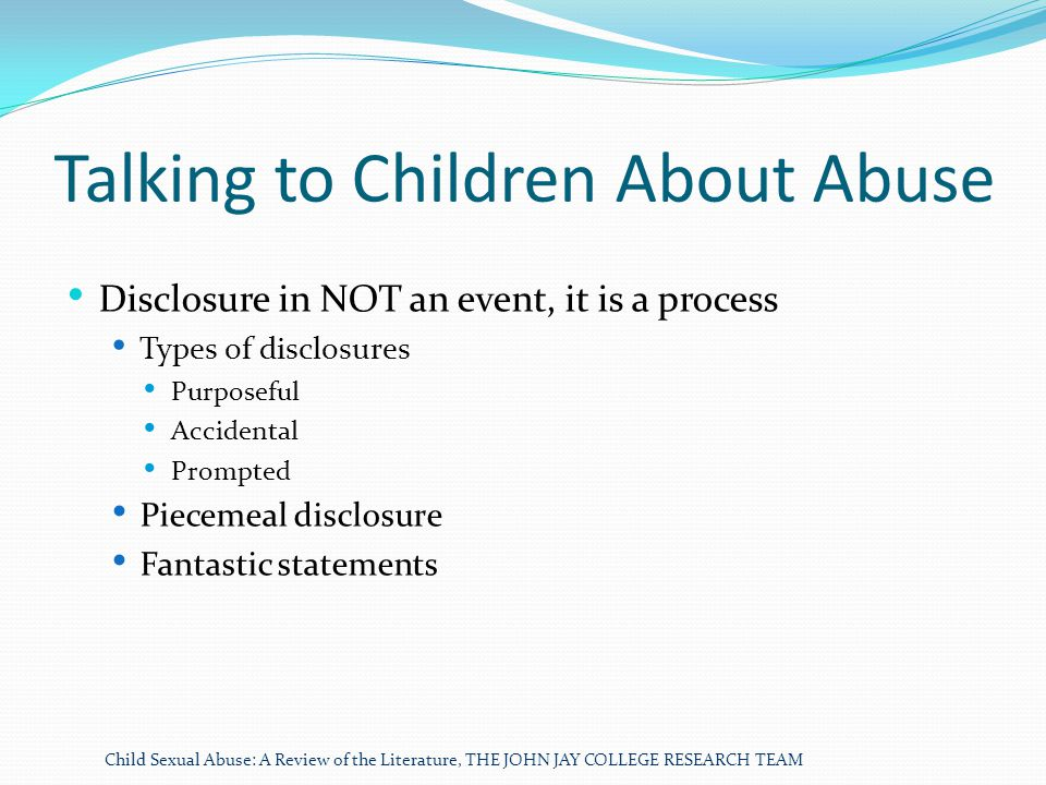Talking to Children About Abuse