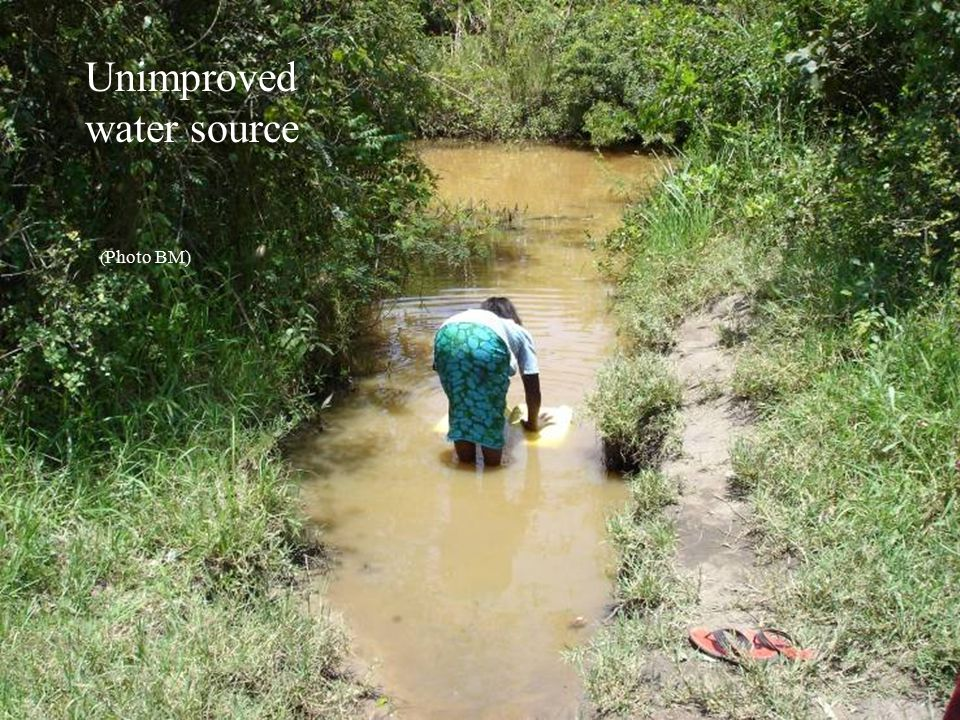 Unimproved water source