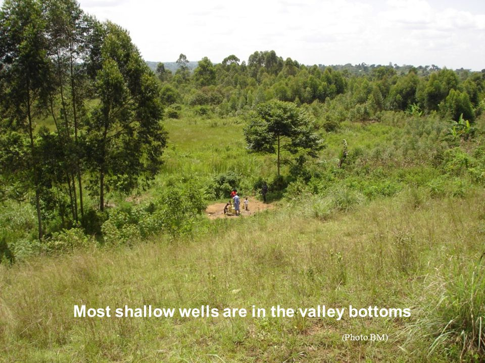 Most shallow wells are in the valley bottoms
