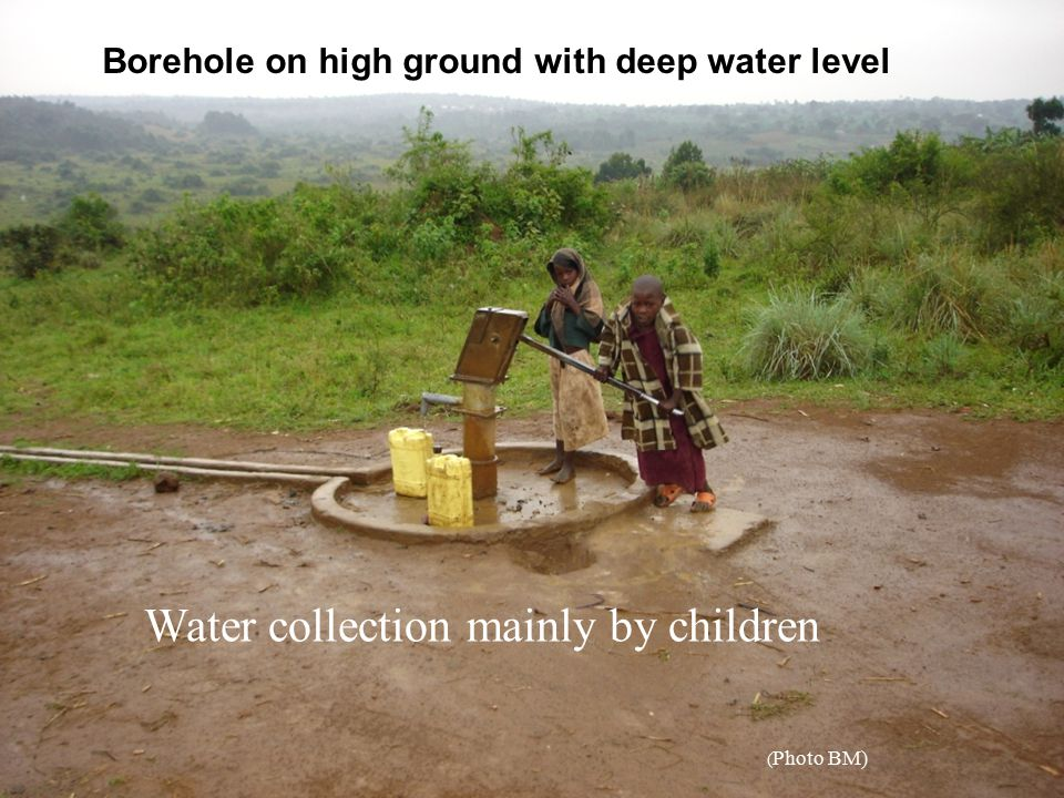 Water collection mainly by children