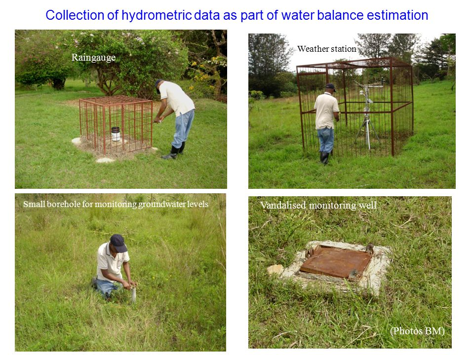 Collection of hydrometric data as part of water balance estimation