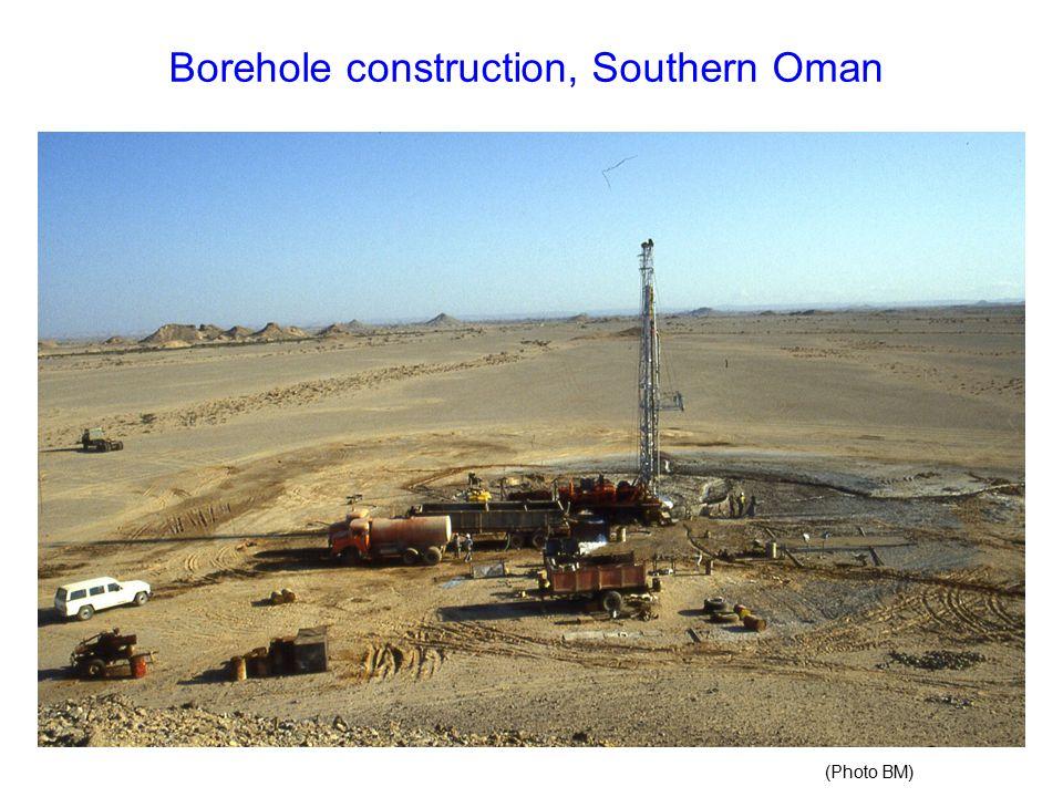 Borehole construction, Southern Oman