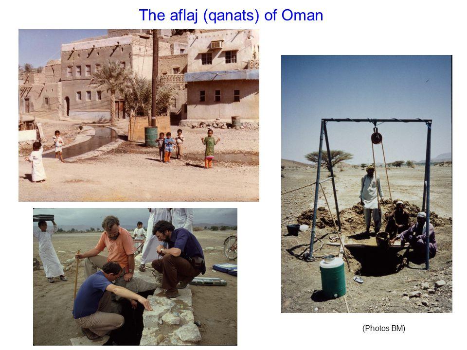 The aflaj (qanats) of Oman