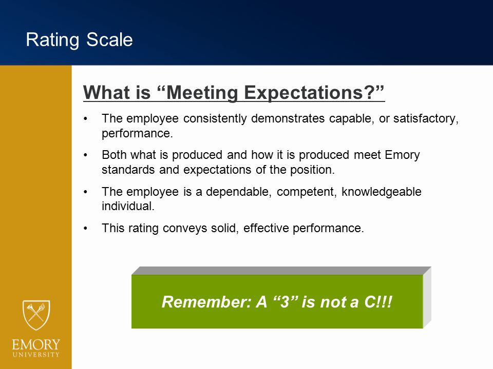 What is Meeting Expectations