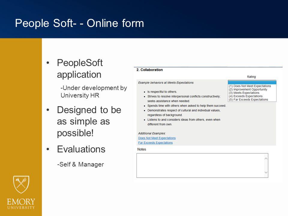 People Soft- - Online form