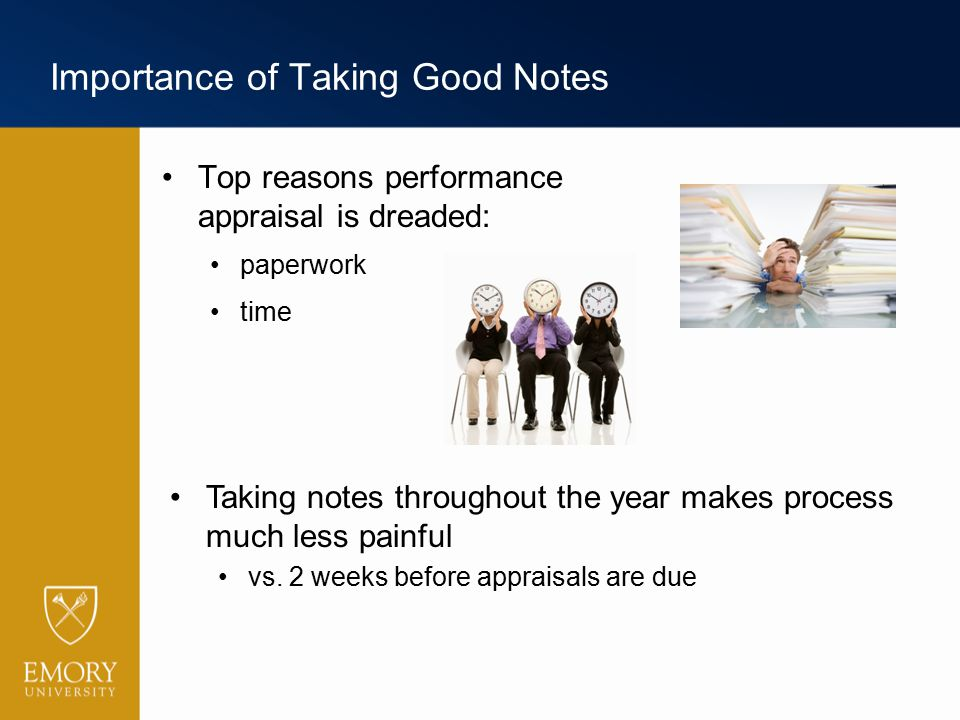 Importance of Taking Good Notes