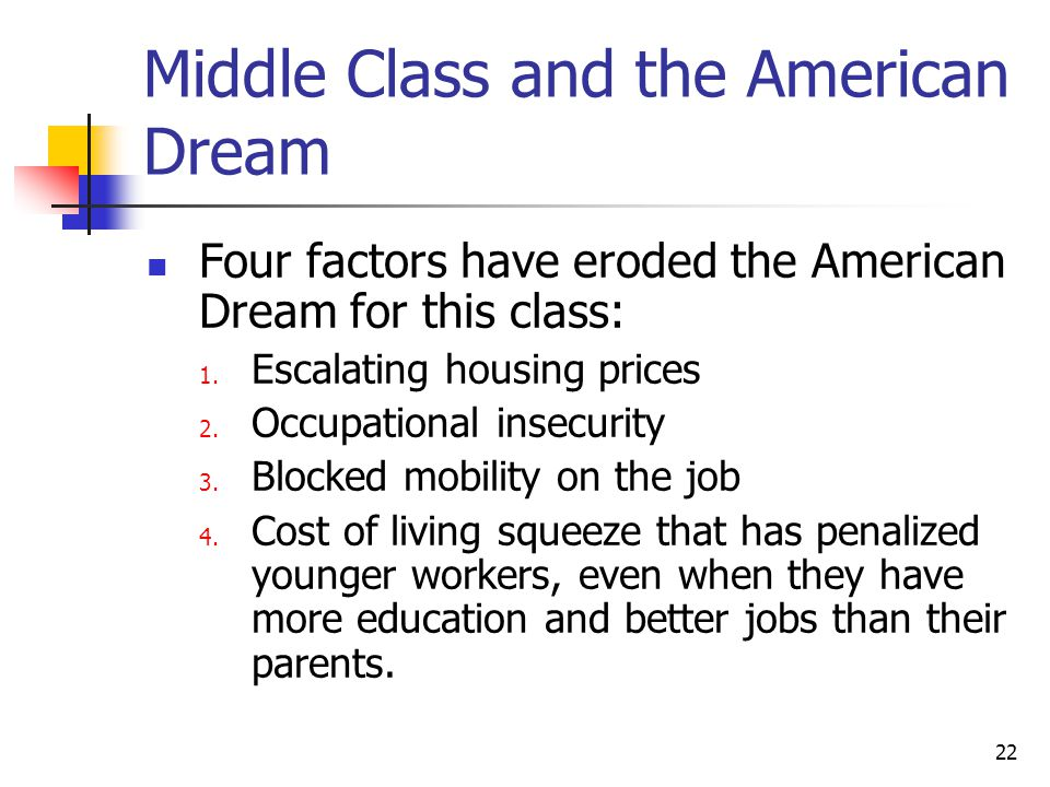 Middle Class and the American Dream