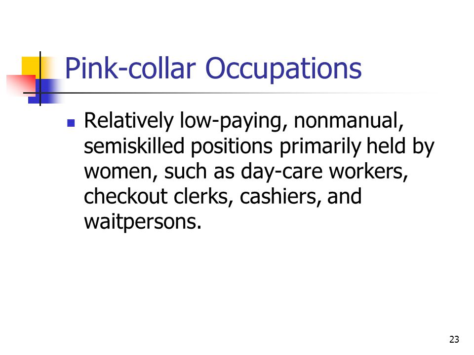 Pink-collar Occupations