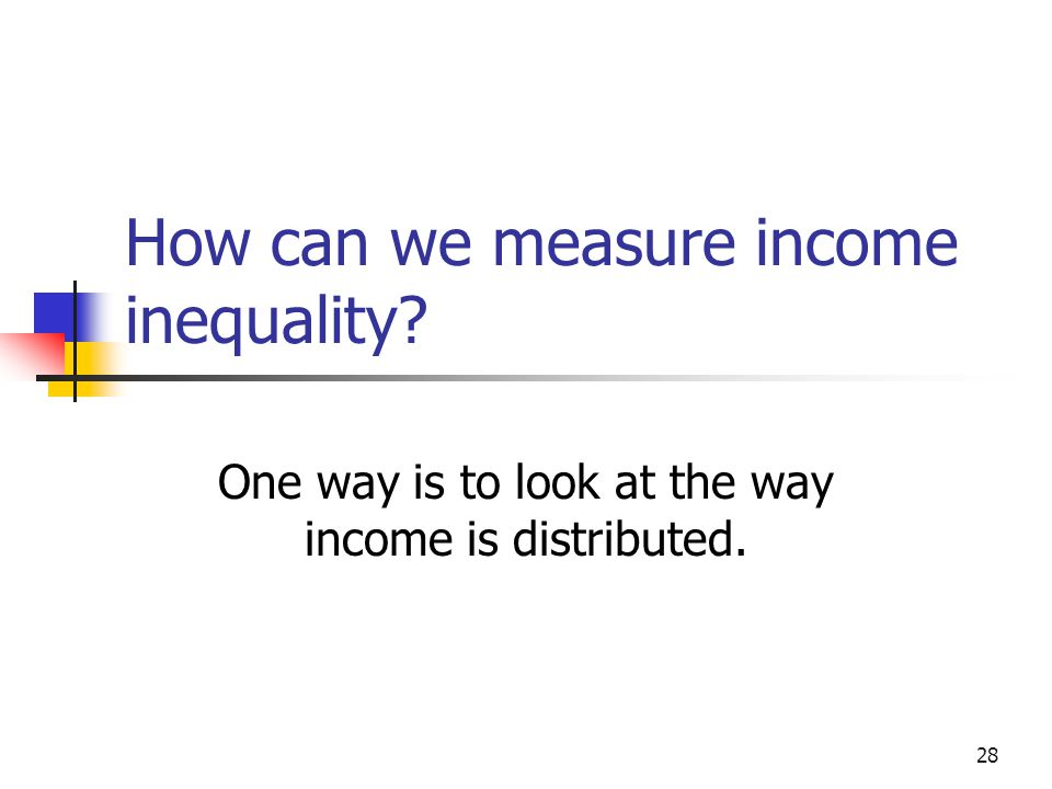 How can we measure income inequality