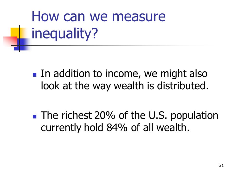 How can we measure inequality