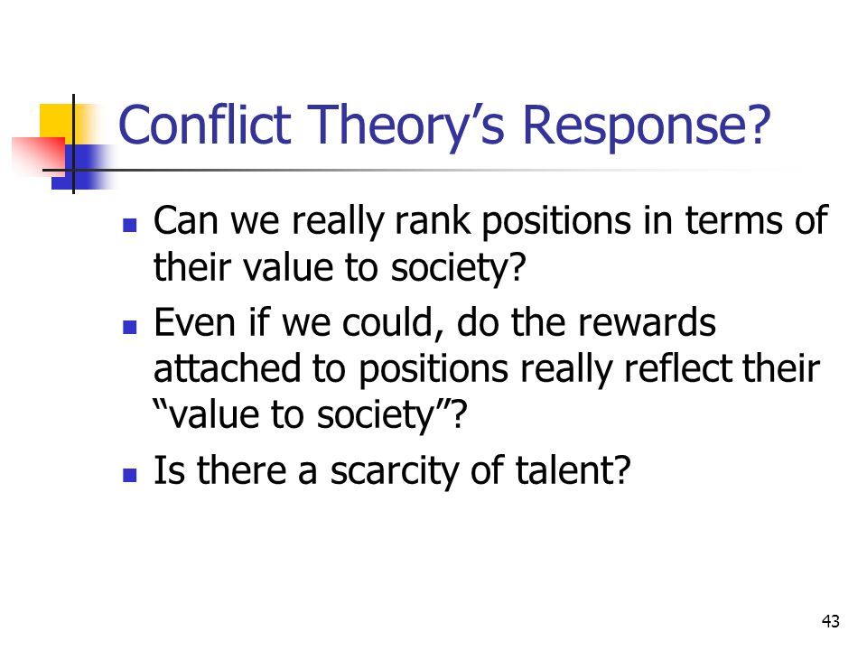 Conflict Theory's Response