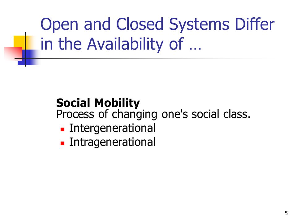 Open and Closed Systems Differ in the Availability of …