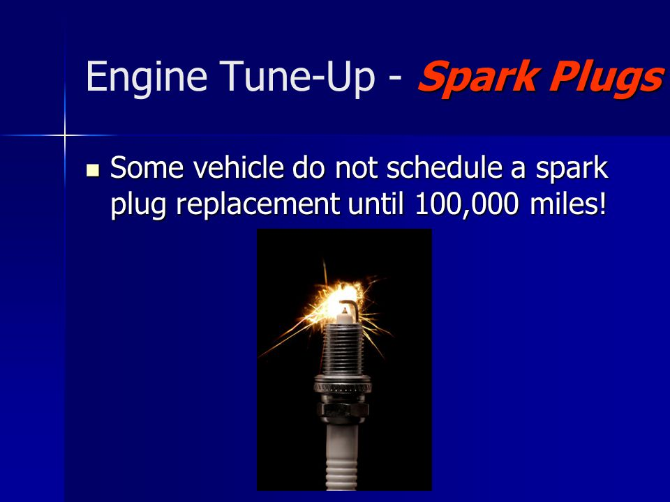 Engine Tune-Up - Spark Plugs