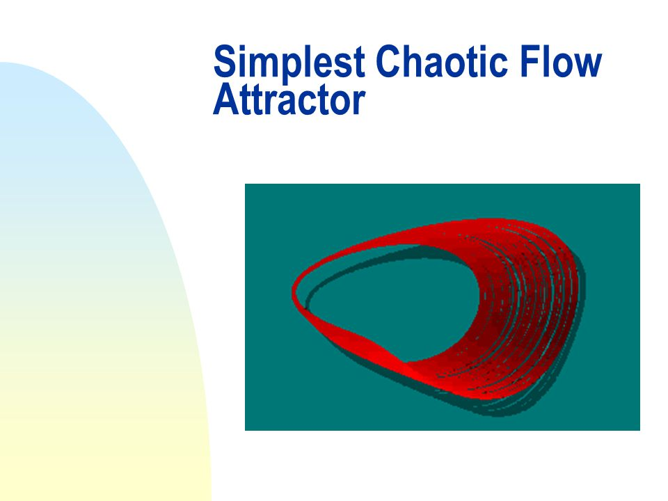 Simplest Chaotic Flow Attractor
