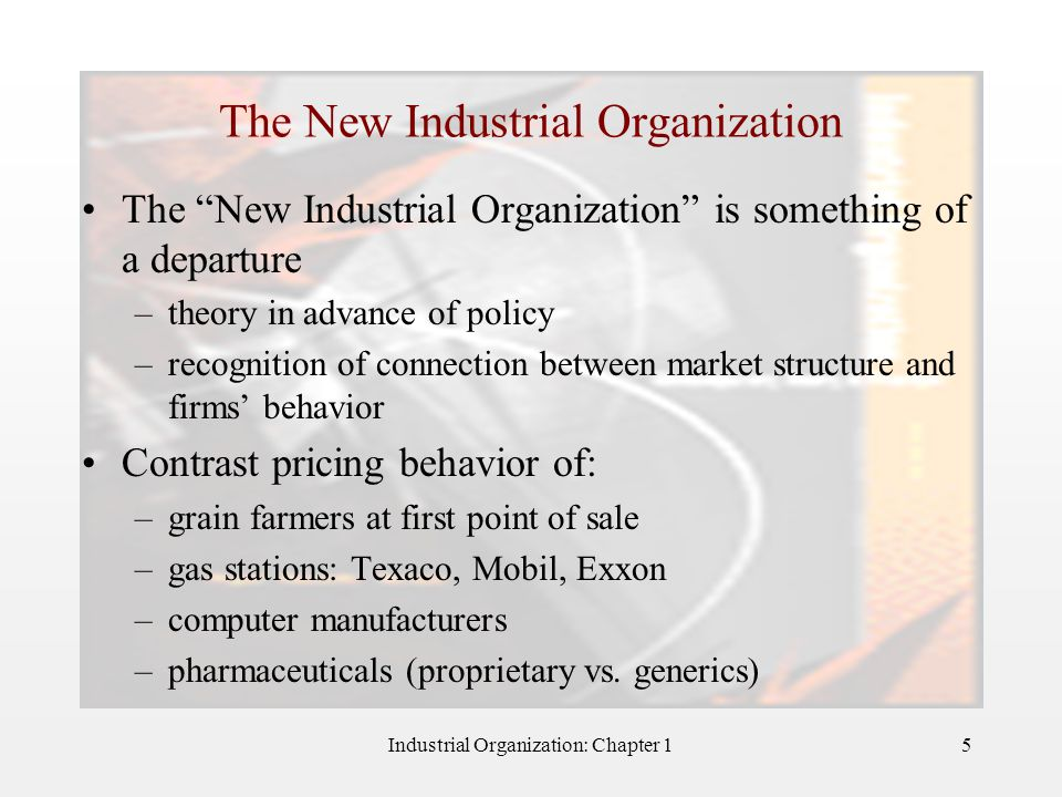 The New Industrial Organization