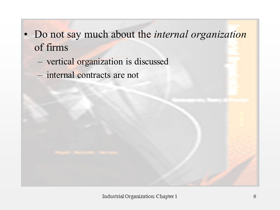 Industrial Organization: Chapter 1