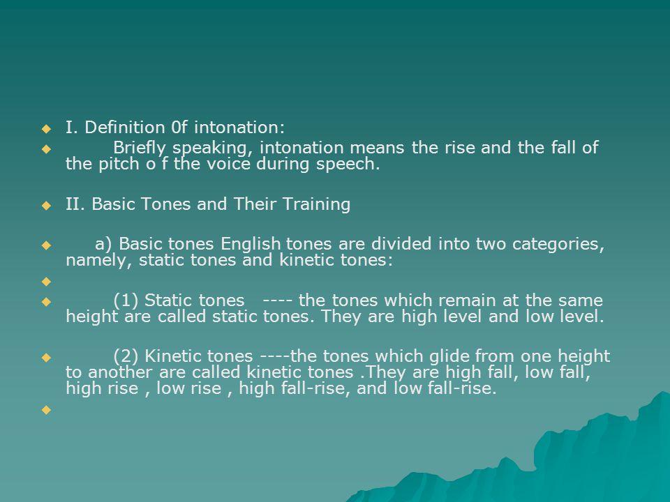 I. Definition 0f intonation: