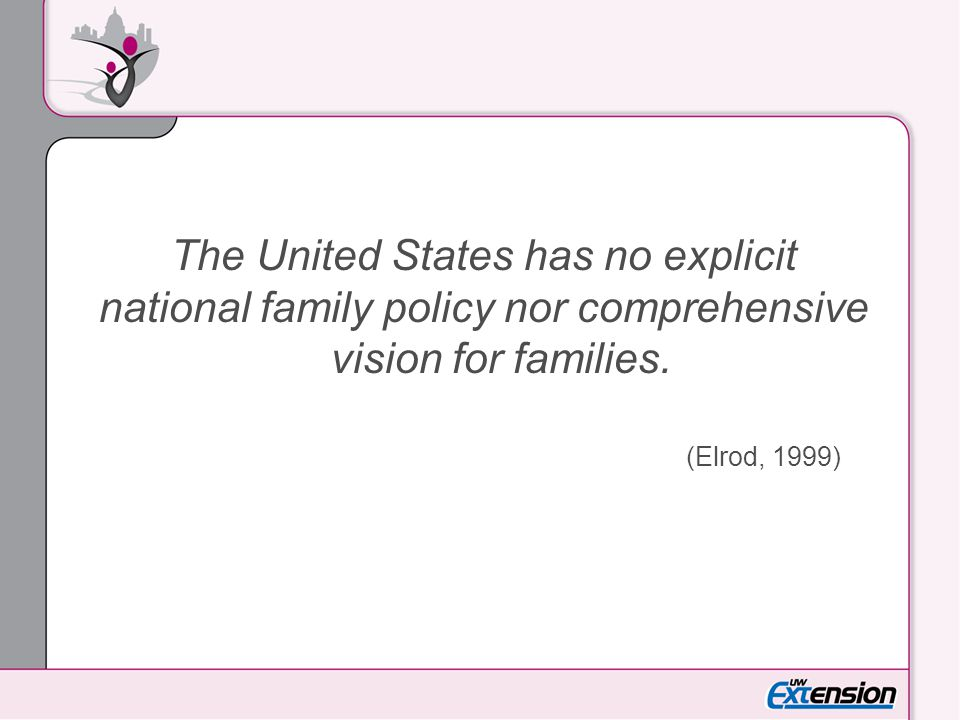 The United States has no explicit