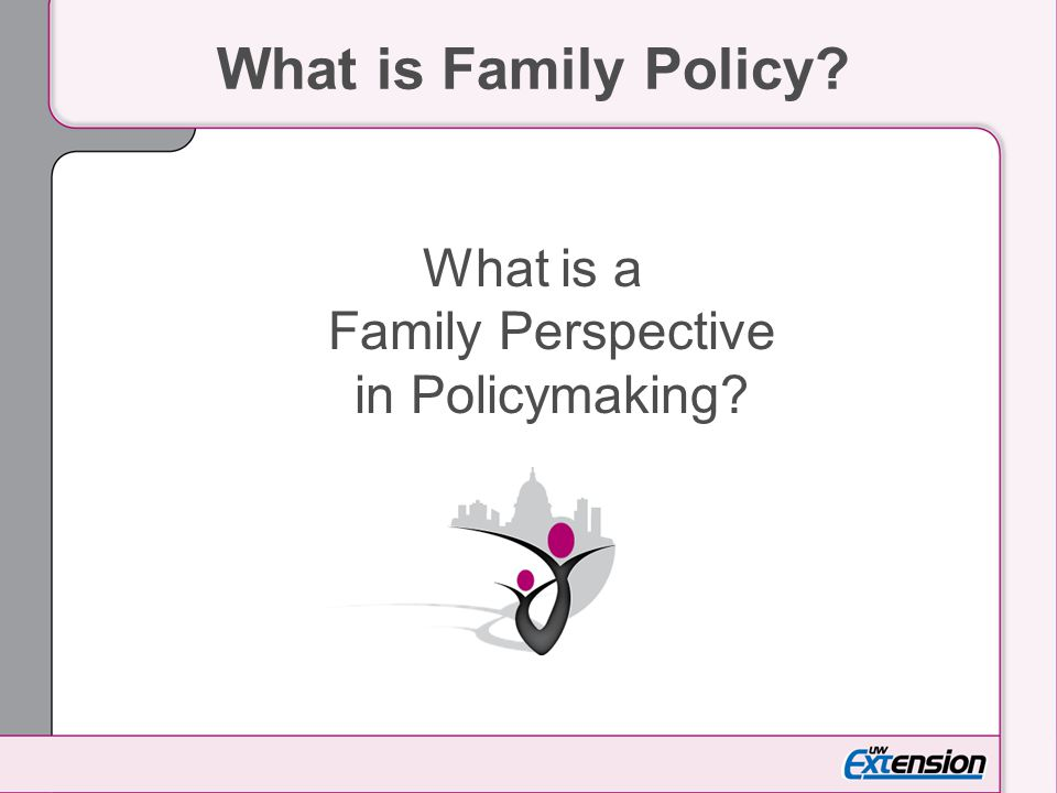 What is a Family Perspective in Policymaking