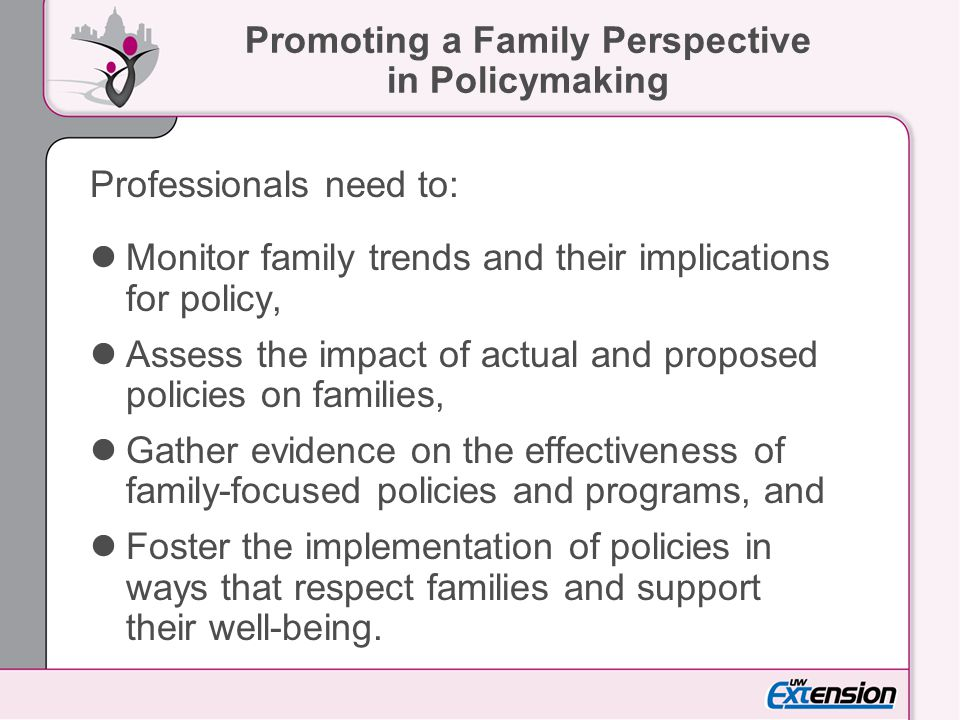 Promoting a Family Perspective in Policymaking