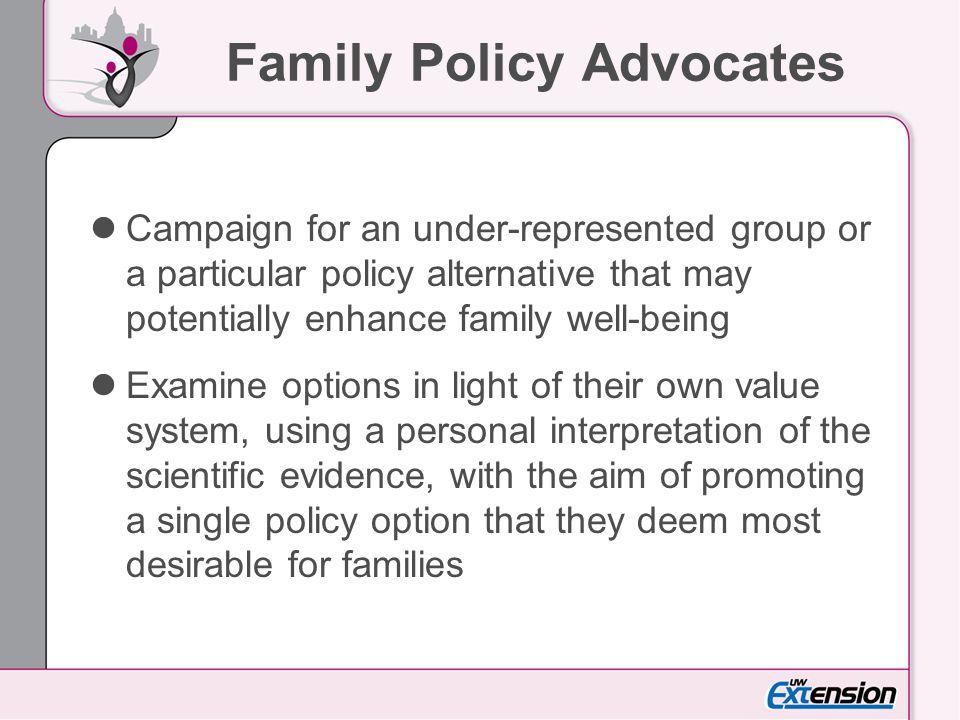 Family Policy Advocates