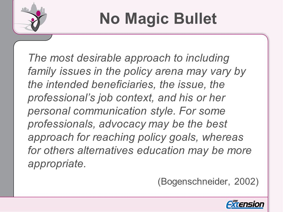 No Magic Bullet