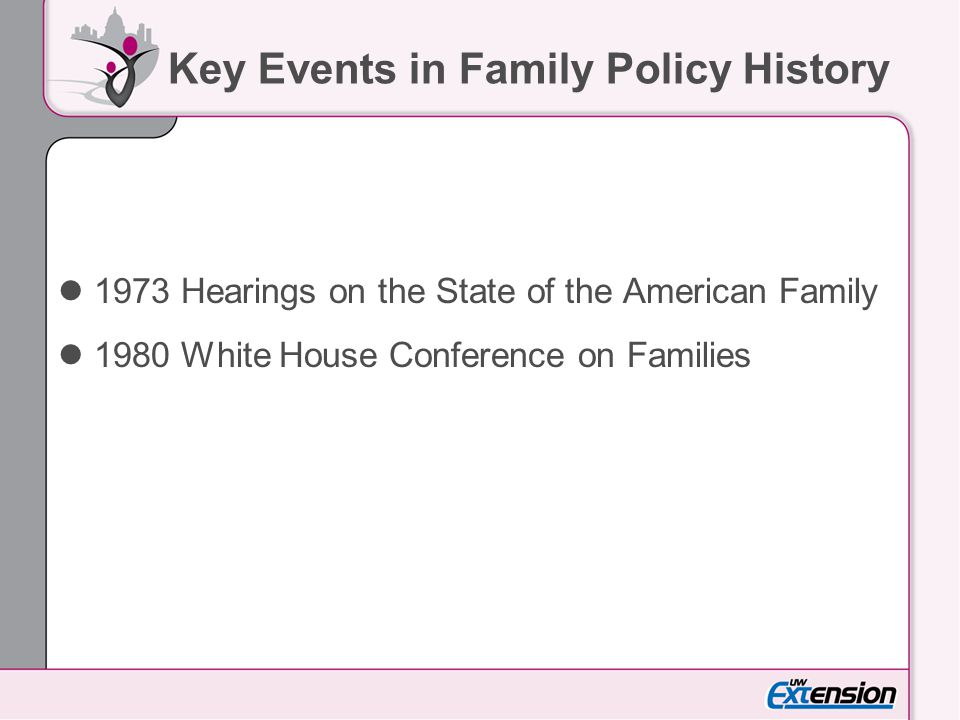 Key Events in Family Policy History