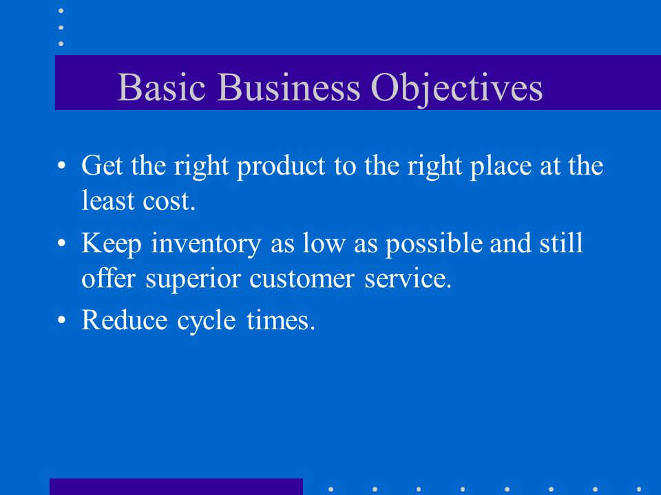 Basic Business Objectives