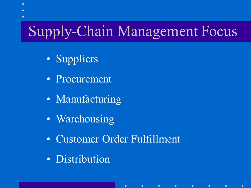 Supply-Chain Management Focus
