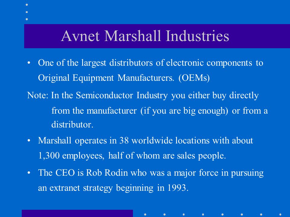Avnet Marshall Industries