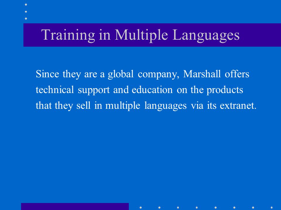 Training in Multiple Languages