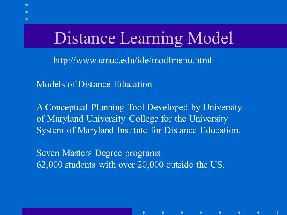 Distance Learning Model