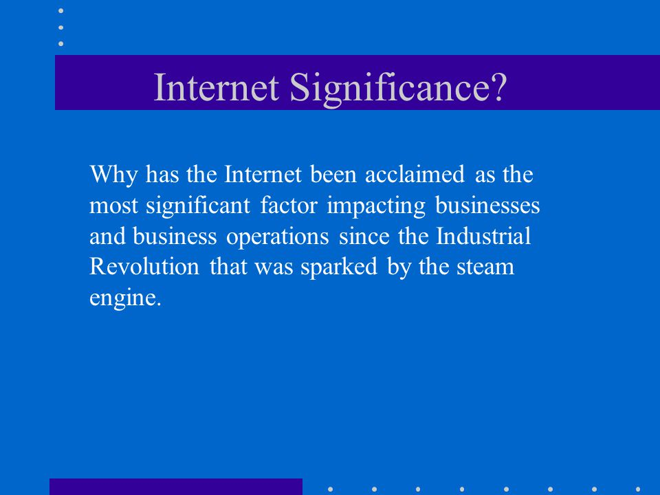 Internet Significance