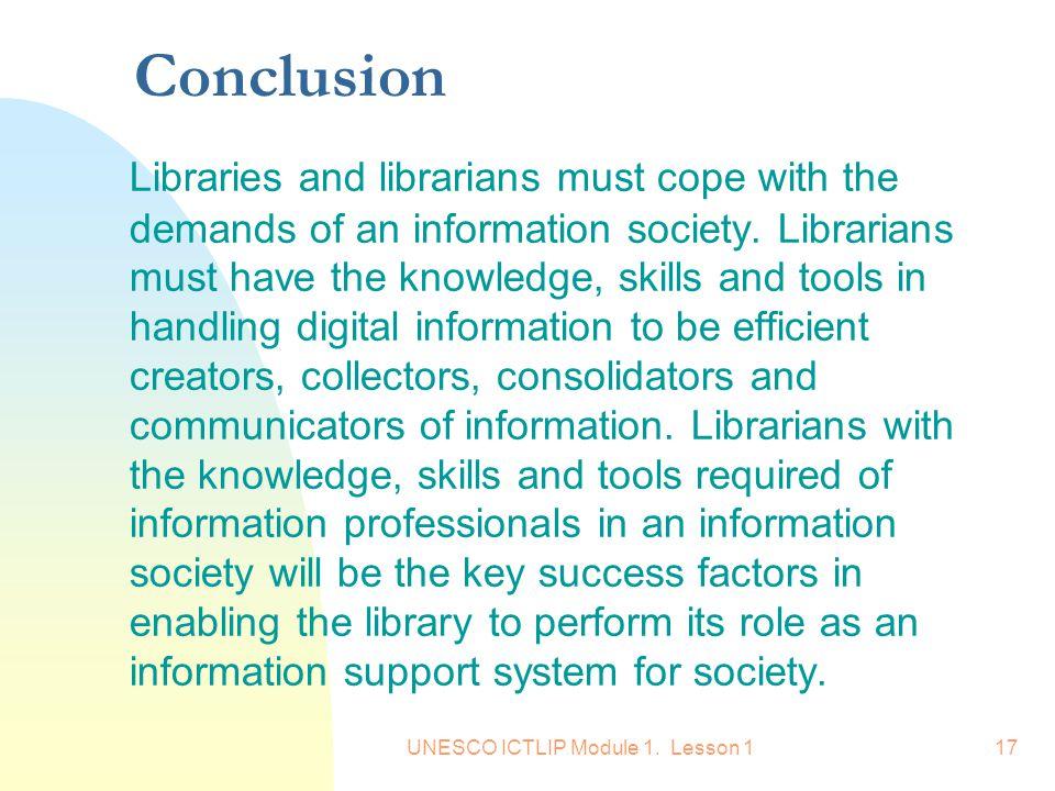 UNESCO ICTLIP Module 1. Lesson 1
