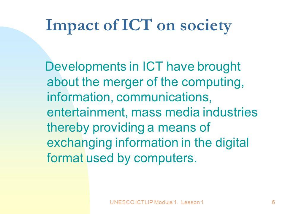 Impact of ICT on society
