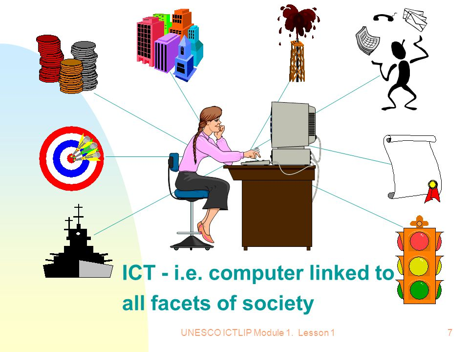 ICT - i.e. computer linked to all facets of society