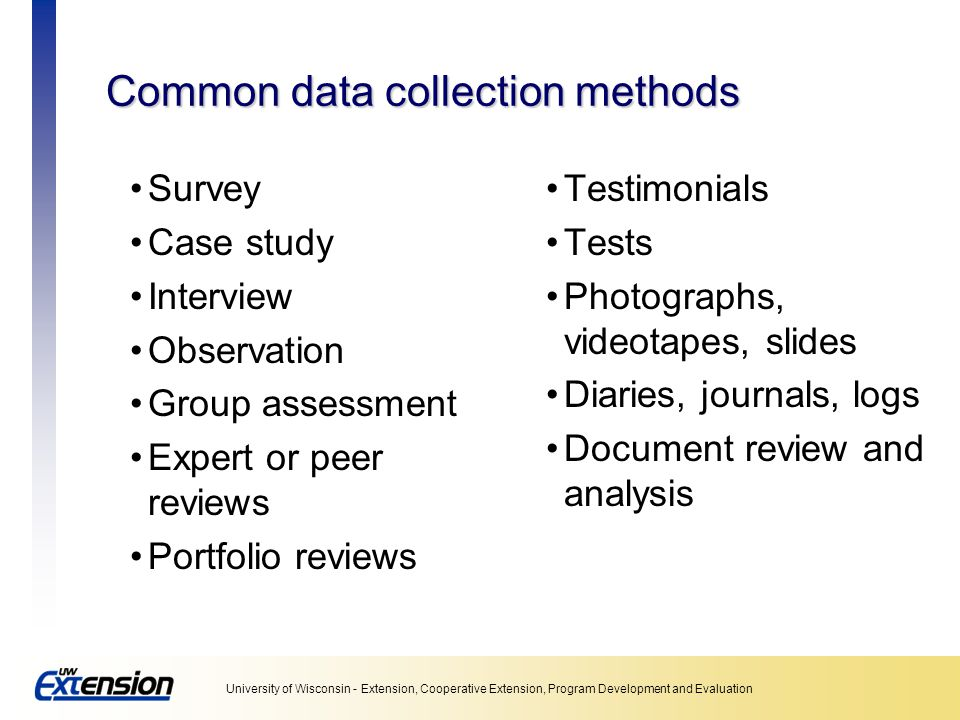 Common data collection methods