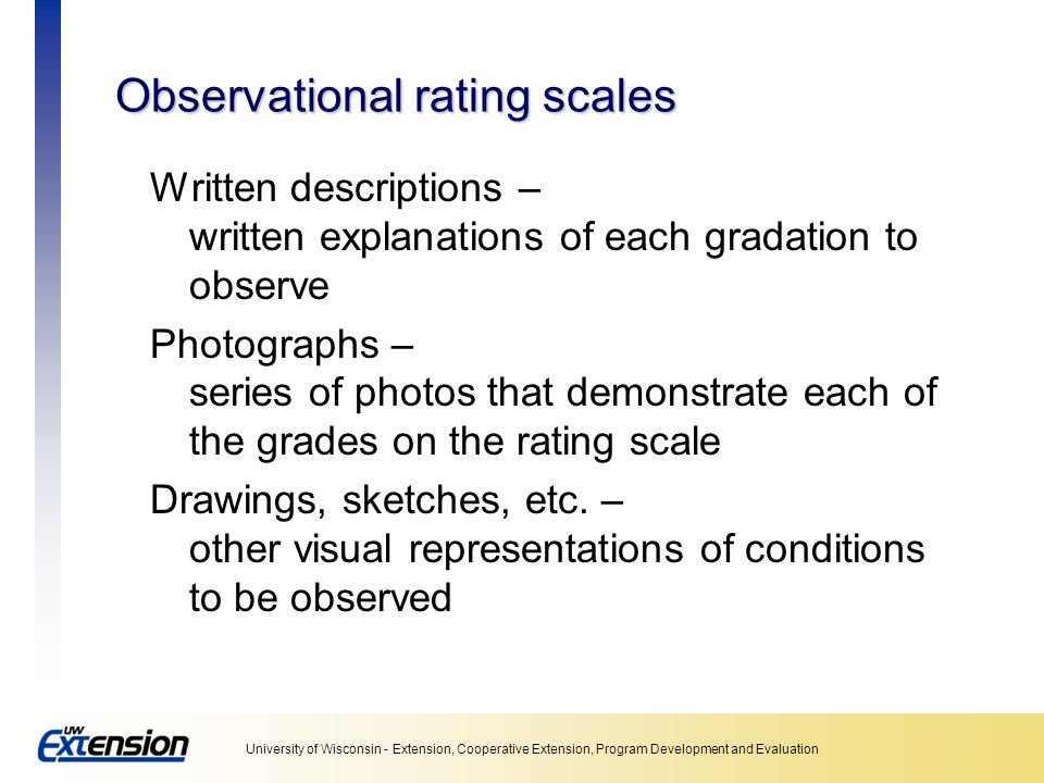 Observational rating scales