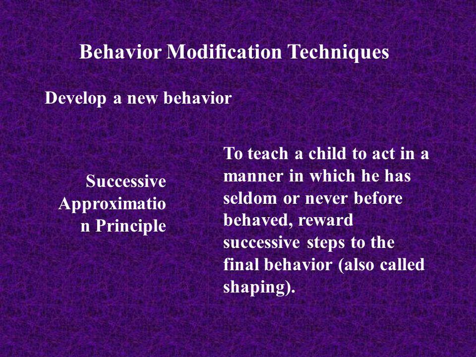 Behavior Modification Techniques