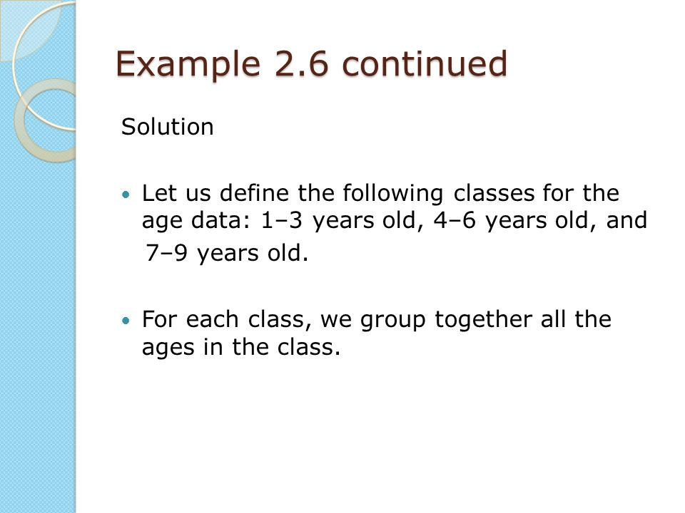 Example 2.6 continued Solution