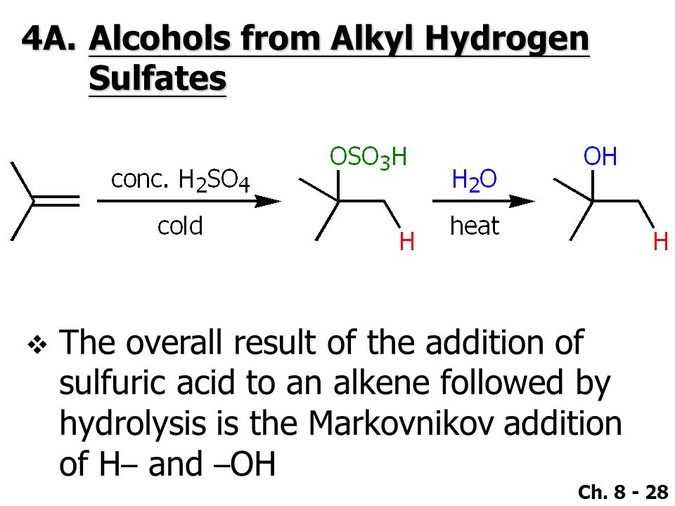 4A. Alcohols from Alkyl Hydrogen Sulfates