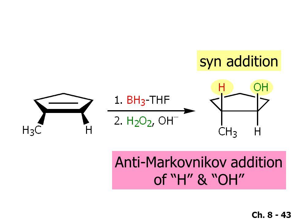 Anti-Markovnikov addition
