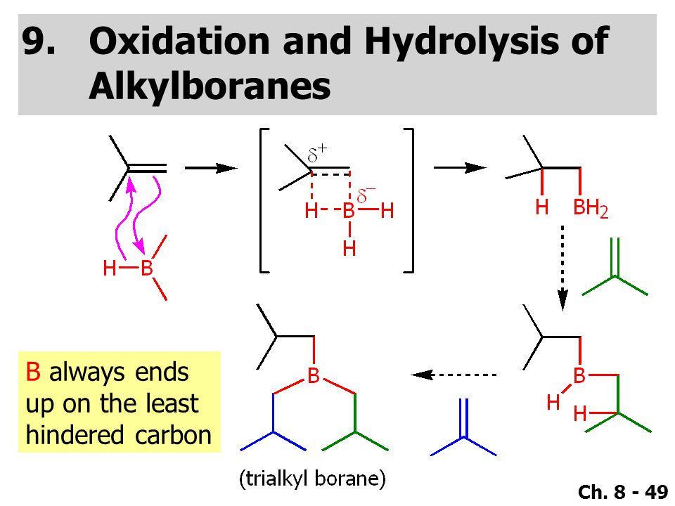 Oxidation and Hydrolysis of Alkylboranes