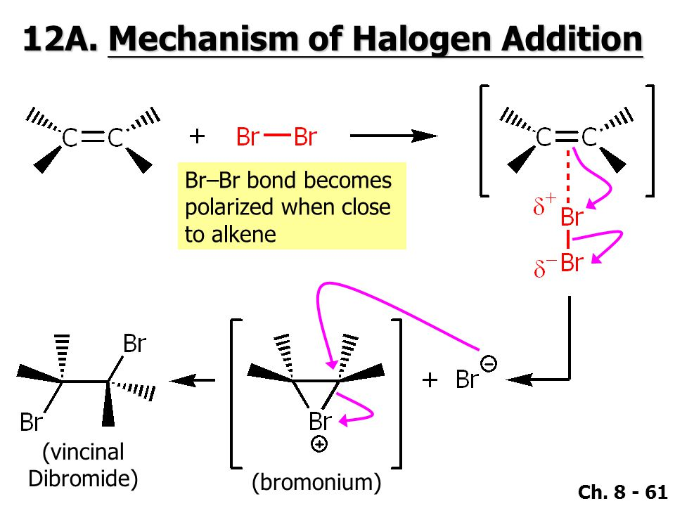 12A. Mechanism of Halogen Addition