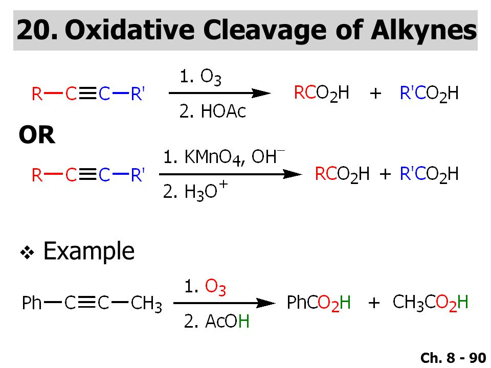 Oxidative Cleavage of Alkynes