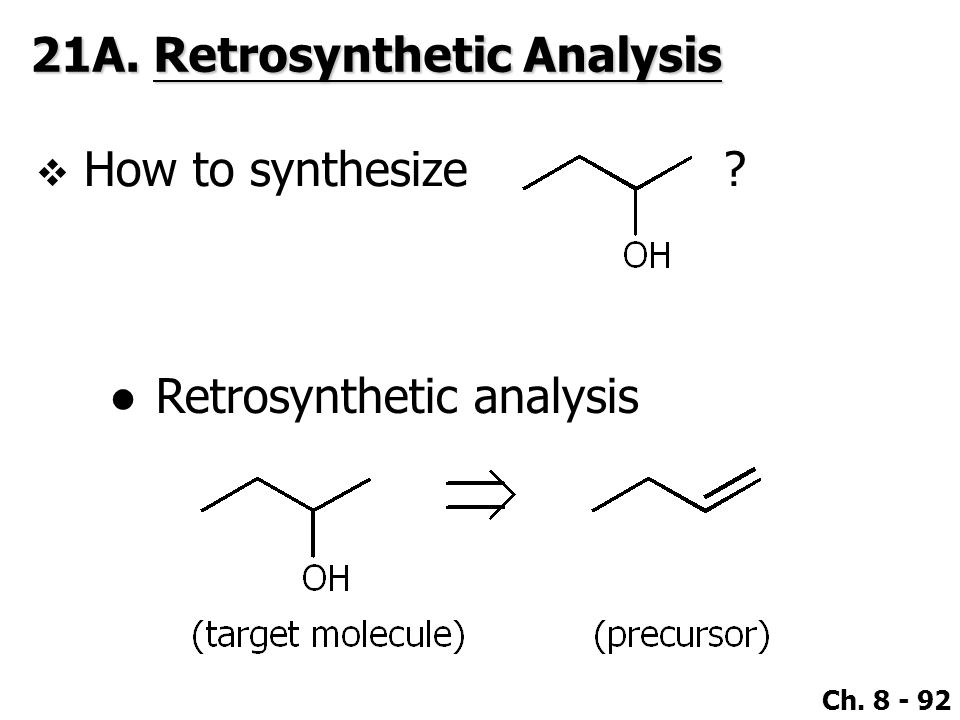 21A. Retrosynthetic Analysis